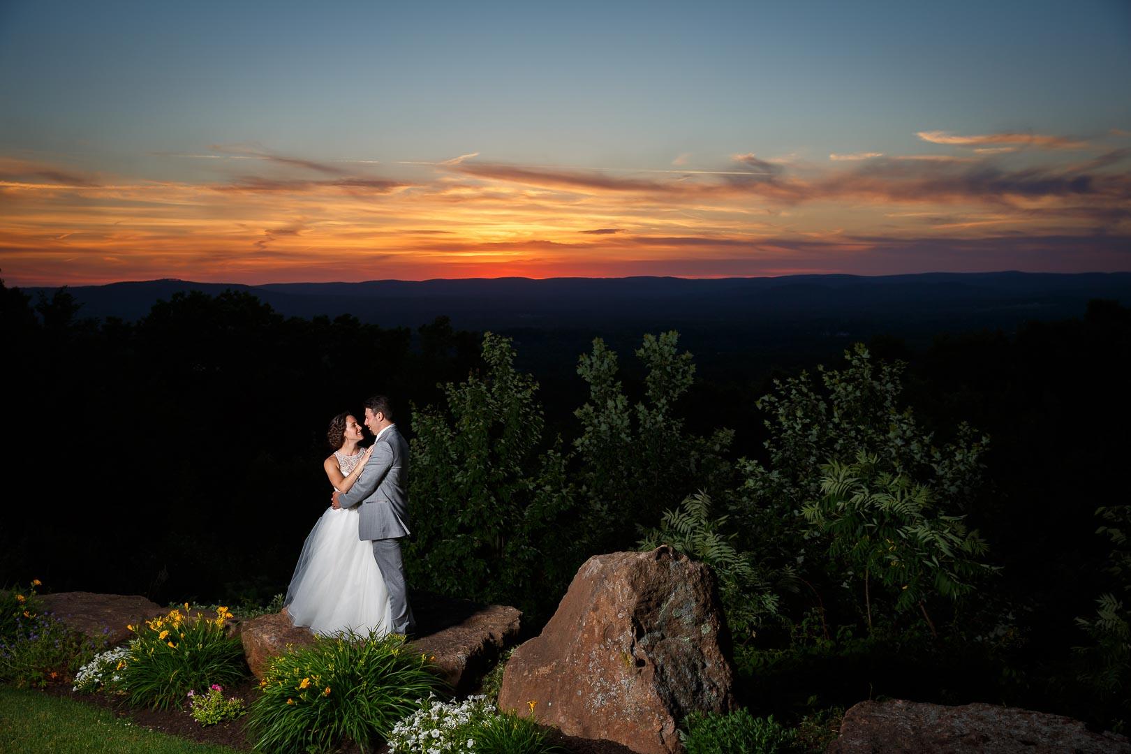 Kara and brandon easthampton wedding photography the for Log cabin wedding