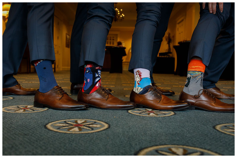 Groomsmen sock photo